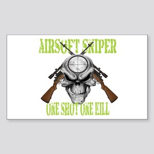 Airsoft Sniper Sticker (Rectangle)