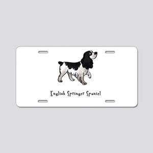 English Springer Spaniel Illu Aluminum License Pla