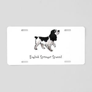 English Springer Spaniel Illu Aluminum License Pla