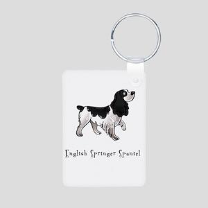 English Springer Spaniel Illu Aluminum Photo Keych