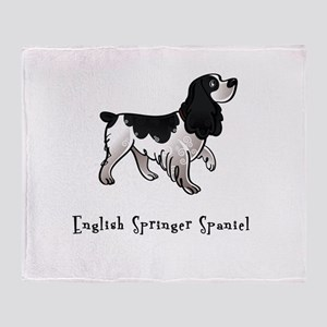 English Springer Spaniel Illu Throw Blanket