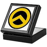 Identitarian lambda Square Keepsake Boxes
