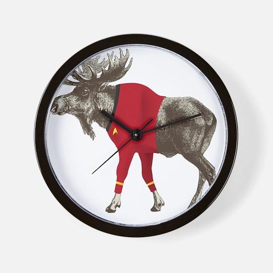 Moose Red Shirt Wall Clock