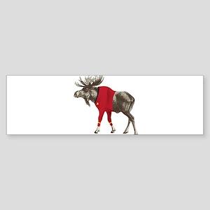 Moose Red Shirt Sticker (Bumper)