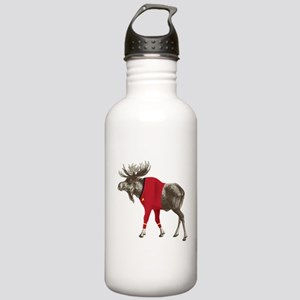 Moose Red Shirt Stainless Water Bottle 1.0L