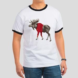 Moose Red Shirt Ringer T