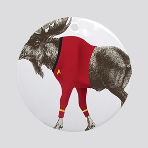 Moose Red Shirt Ornament (Round)