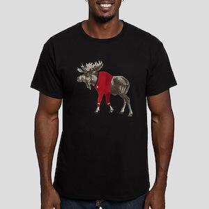 Moose Red Shirt Men's Fitted T-Shirt (dark)