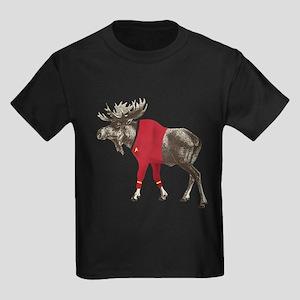 Moose Red Shirt Kids Dark T-Shirt