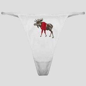 Moose Red Shirt Classic Thong