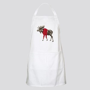 Moose Red Shirt Apron