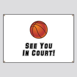 Basketball Court Banner