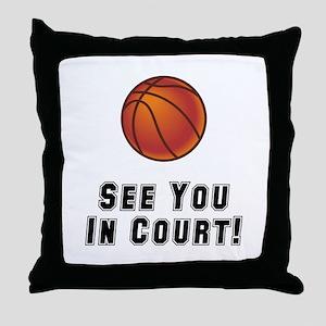 Basketball Court Throw Pillow