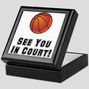 Basketball Court Keepsake Box