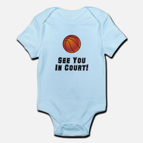Basketball Court Infant Bodysuit