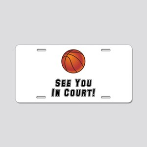 Basketball Court Aluminum License Plate
