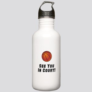 Basketball Court Stainless Water Bottle 1.0L