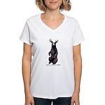 Beer With Beer Women's V-Neck T-Shirt