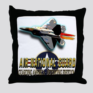 USAF Air National Guard Throw Pillow