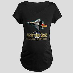 USAF Air National Guard Maternity Dark T-Shirt
