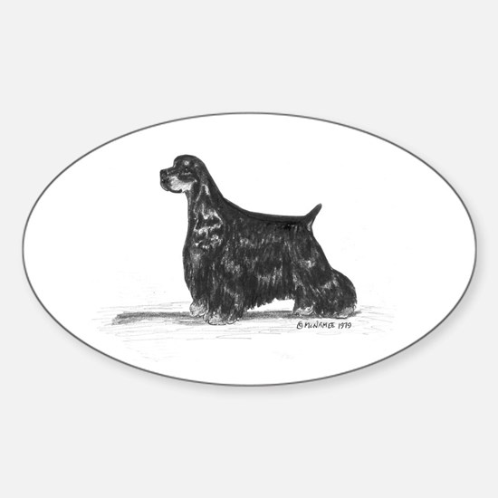 American Cocker Spaniel Sticker (Oval)