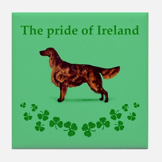 Irish Setter Tile Coaster