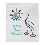 Save Our Planet Throw Blanket
