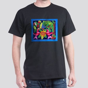 tropical forest animals mola Black T-Shirt