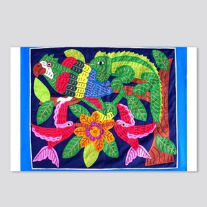 tropical forest animals mola Postcards (Package of