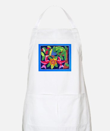 tropical forest animals mola BBQ Apron