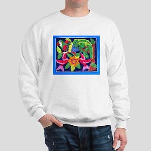tropical forest animals mola Sweatshirt