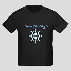 Snowflake Baby (FET) Kids Dark T-Shirt