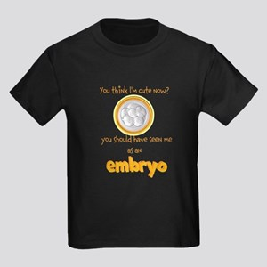 Cute IVF Embryo Kids Dark T-Shirt