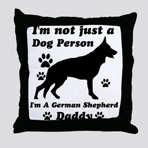 German shepherd daddy Throw Pillow