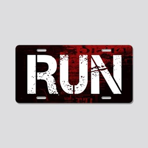 Run Aluminum License Plate