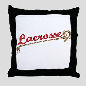 Lacrosse Old School Throw Pillow