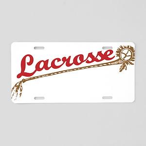 Lacrosse Old School Aluminum License Plate