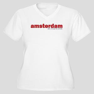 Amsterdam Women's Plus Size V-Neck T-Shirt