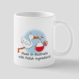 Stork Baby Poland Australia Mug
