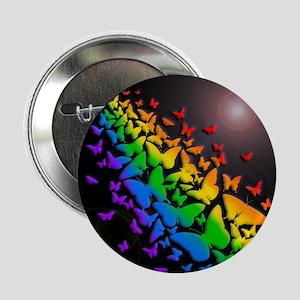 "Butterfly Rainbow- 2.25"" Button"
