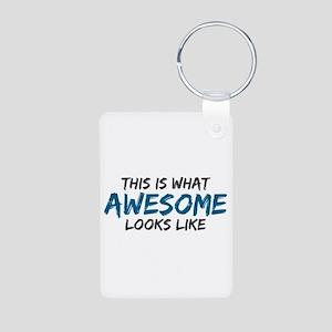 Awesome Looks Like Aluminum Photo Keychain