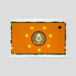 Cherokee Nation Flag Rectangle Magnet