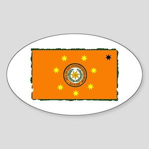 Cherokee Nation Flag Sticker (Oval)