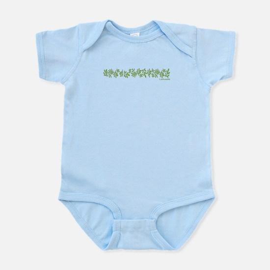 Row of Rue and Lietuvaite Infant Bodysuit