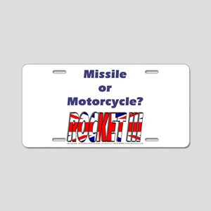Missle or Motorcycle? Aluminum License Plate