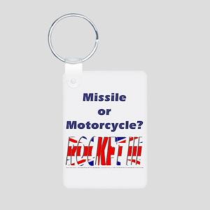 Missle or Motorcycle? Aluminum Photo Keychain
