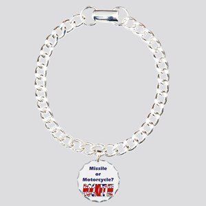 Missle or Motorcycle? Charm Bracelet, One Charm