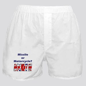 Missle or Motorcycle? Boxer Shorts
