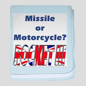 Missle or Motorcycle? baby blanket