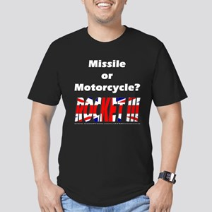 Missle or Motorcycle? Men's Fitted T-Shirt (dark)